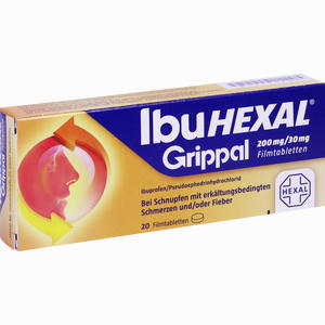 Abbildung von Ibuhexal Grippal 200mg/30mg Filmtabletten  20 Stück