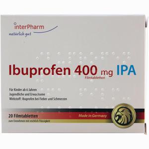 Abbildung von Ibuprofen 400mg Ipa Filmtabletten Inter pharm arzneimittel 20 Stück