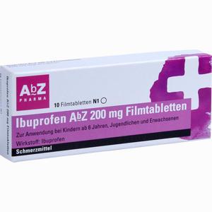 Abbildung von Ibuprofen Abz 200 Mg Filmtabletten  10 Stück