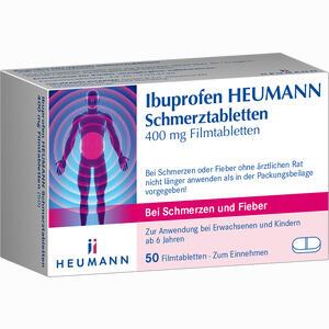 Abbildung von Ibuprofen Heumann Schmerztabletten 400mg Filmtabletten 50 Stück