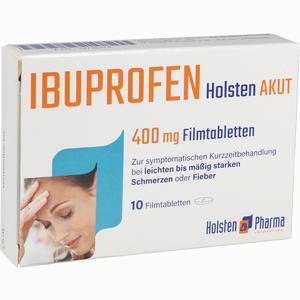 Abbildung von Ibuprofen Holsten Akut 400 Mg Filmtabletten  10 Stück