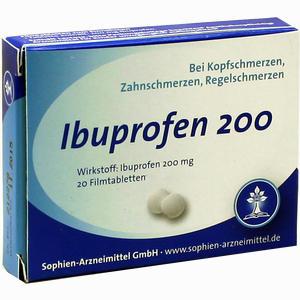 Abbildung von Ibuprofen Sophien 200 Filmtabletten 20 Stück