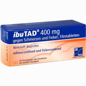 Abbildung von Ibutad 400mg gegen Schmerzen und Fieber Filmtabletten  50 Stück
