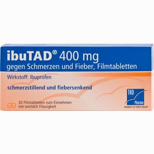 Abbildung von Ibutad 400mg gegen Schmerzen und Fieber Filmtabletten  20 Stück