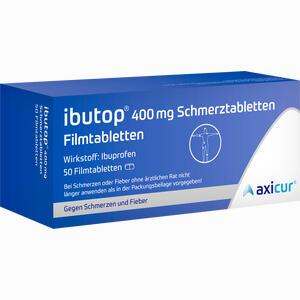 Abbildung von Ibutop 400 Mg Schmerztabletten Filmtabletten  Axicorp pharma 50 Stück
