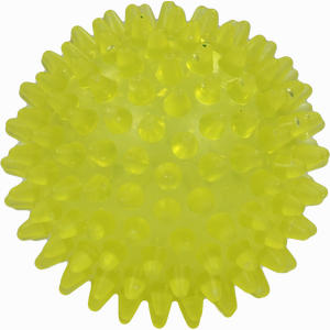 Abbildung von Igelball 8cm Gelb- Transparent 1 Stück