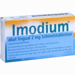 Abbildung von Imodium Akut Lingual Schmelztabletten Eurim 12 Stück