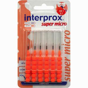 Abbildung von Interprox Reg Super Micro Orange Interdentalbürste Blister Zahnbürste 6 Stück