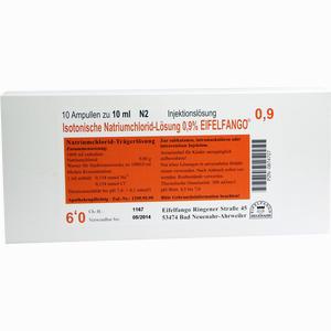 Abbildung von Isotonische Natriumchlorid- Lösung 0.9% Eifelfango Ampullen 10 x 10 ml