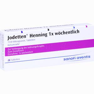 Abbildung von Jodetten Henning 1x Wöchentlich Tabletten 28 Stück