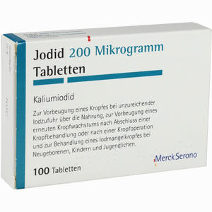 Abbildung von Jodid 200 Tabletten 100 Stück