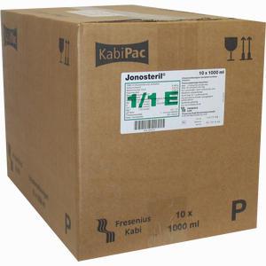Abbildung von Jonosteril Plastikflaschen Infusionslösung  10X1000 ml
