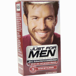 Abbildung von Just for Men Pflege- Brush- In- Color Natur Mittelbraun Gel 28.4 ml