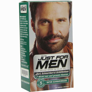 Abbildung von Just for Men Pflege- Brush- In- Color Natur Schwarz/Braun Gel 28.4 ml