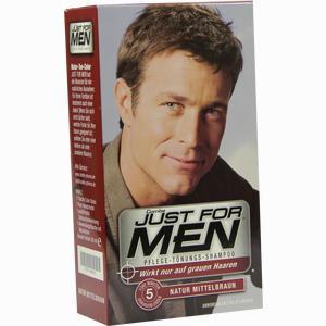 Abbildung von Just for Men Pflege- Tönungs- Sham Natur Mittelbraun Shampoo 60 ml