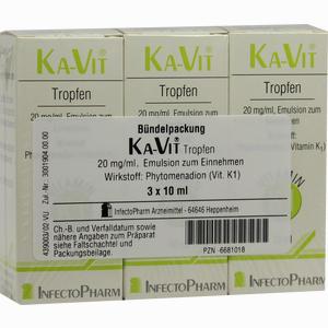 Abbildung von Ka- Vit Tropfen  3 x 10 ml