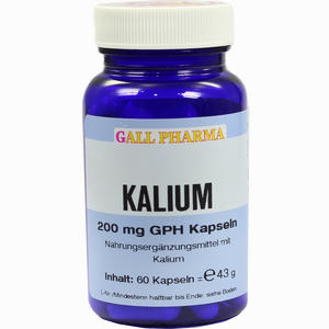 Abbildung von Kalium 200mg Gph Kapseln  60 Stück
