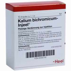 Abbildung von Kalium Bichromicum- Injeel Ampullen  10 Stück