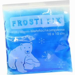 Abbildung von Kalt- Warm Kompresse 10x10cm Blau Frosti Fix Kompressen 1 Stück