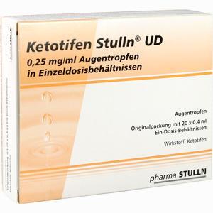 Abbildung von Ketotifen Stulln Ud Augentropfen Einzeldosispipetten 20 x 0.4 ml