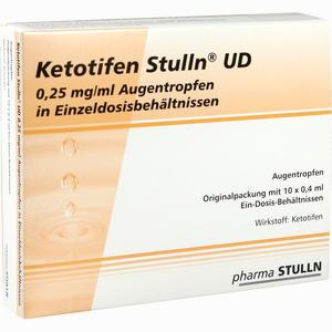 Abbildung von Ketotifen Stulln Ud Augentropfen Einzeldosispipetten 10 x 0.4 ml