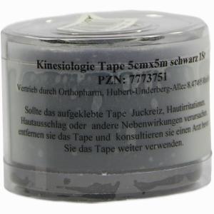 Abbildung von Kinesiologie Tape 5x5cm Schwarz Orthopharm  1 Stück