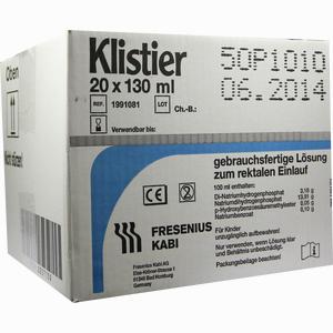 Abbildung von Klistier  20 x 130 ml