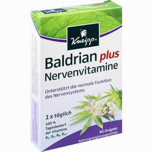 Abbildung von Kneipp Baldrian Plus Nervenvitamine Dragees 40 Stück