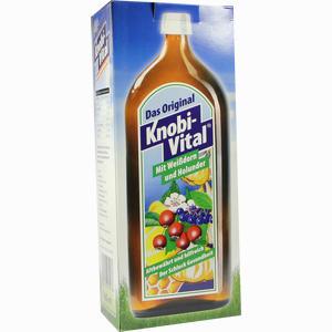 Abbildung von Knobivital mit Weißdorn + Holunder Flasche 960 ml