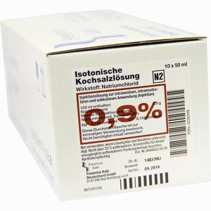Abbildung von Kochsalz 0.9% Isoton Freka Infusionslösung 10 x 50 ml