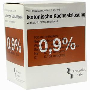 Abbildung von Kochsalz 0.9% Isoton Pl Ampullen 20 x 20 ml