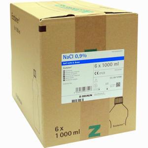 Abbildung von Kochsalzlösung 0.9% B.braun Spüllösung Ecotainer  6X1000 ml