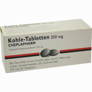 Abbildung von Kohle- Tabletten 250mg  50 Stück