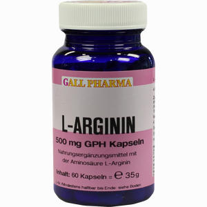 Abbildung von L- Arginin 500mg Gph Kapseln  60 Stück