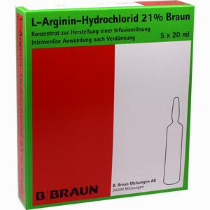 Abbildung von L- Arginin- Hydrochlorid 21% Elek.- Konz.inf.- Ls Infusionslösungskonzentrat 5 x 20 ml