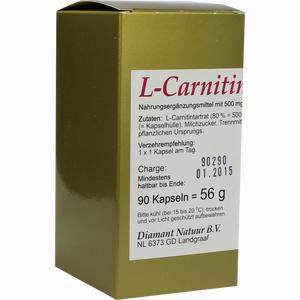Abbildung von L- Carnitin 1 X 1 Pro Tag Kapseln 90 Stück