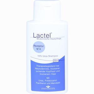 Abbildung von Lactel Nr. 4 10% Urea Shampoo gegen Trockene Juckende Kopfhaut  200 ml