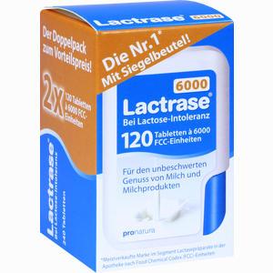 Abbildung von Lactrase 6000 Fcc Tabletten im Klickspender Doppelpack  2 x 120 Stück