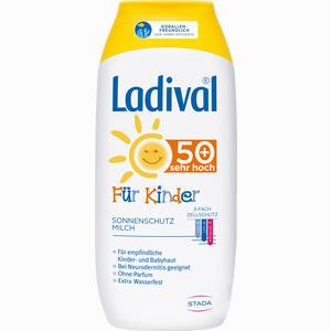 Abbildung von Ladival Kinder Sonnenmilch Lsf50+  200 ml
