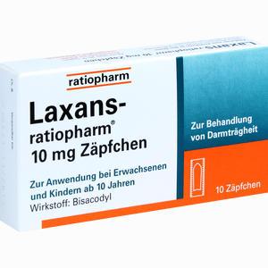 Abbildung von Laxans- Ratiopharm 10mg Zäpfchen  10 Stück