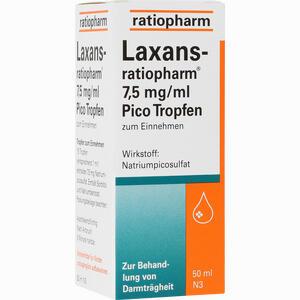 Abbildung von Laxans- Ratiopharm 7.5mg/ml Pico Tropfen  50 ml