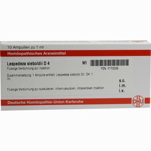 Abbildung von Lespedeza Sieboldii D4 Ampullen Dhu-arzneimittel 10 x 1 ml