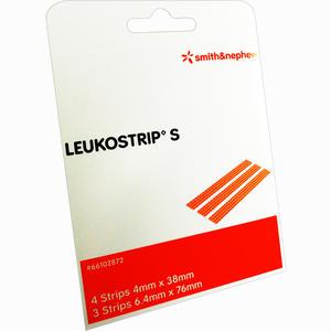 Abbildung von Leukostrip S - 4 Strips 4x38mm/3 Strips 6,4x76mm Pflaster 2 Packung