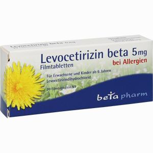 Abbildung von Levocetirizin Beta 5mg Filmtabletten  20 Stück