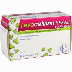 Abbildung von Levocetirizin Hexal bei Allergien 5mg Filmtabletten  100 Stück