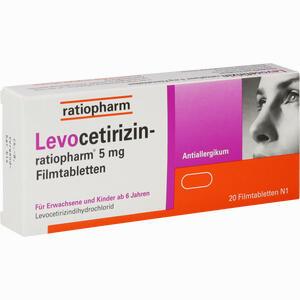 Abbildung von Levocetirizin- Ratiopharm 5 Mg Filmtabletten  20 Stück