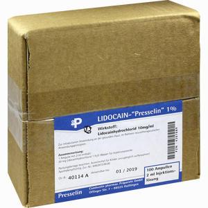 Abbildung von Lidocain- Presselin 1% Injektionslösung 100 x 2 ml