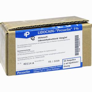 Abbildung von Lidocain- Presselin 1% Injektionslösung 50 x 2 ml