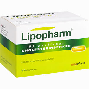 Abbildung von Lipopharm Pflanzlicher Cholesterinsenker Kapseln 200 Stück