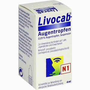 Abbildung von Livocab Augentropfen  4 ml